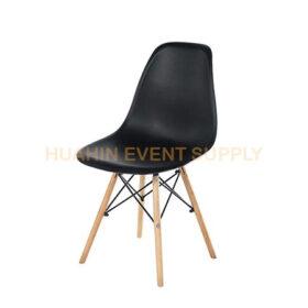 เช่าเก้าอี้โมเดิร์นขาไม้สีดำ