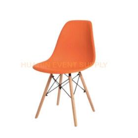 เช่าเก้าอี้โมเดิร์นขาไม้สีส้ม