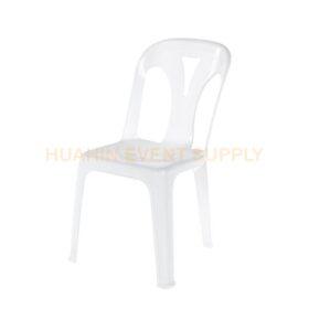 เช่าเก้าอี้พลาสติกสีขาว
