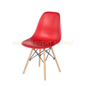 เช่าเก้าอี้โมเดิร์นขาไม้สีแดง