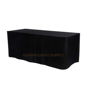 เช่าโต๊ะหน้าขาวคลุมผ้าดำ 1.2