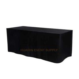 เช่าโต๊ะหน้าขาวคลุมผ้าดำ 1.8