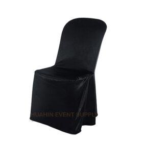 เช่าเก้าอี้พลาสติกคลุมผ้าดำ